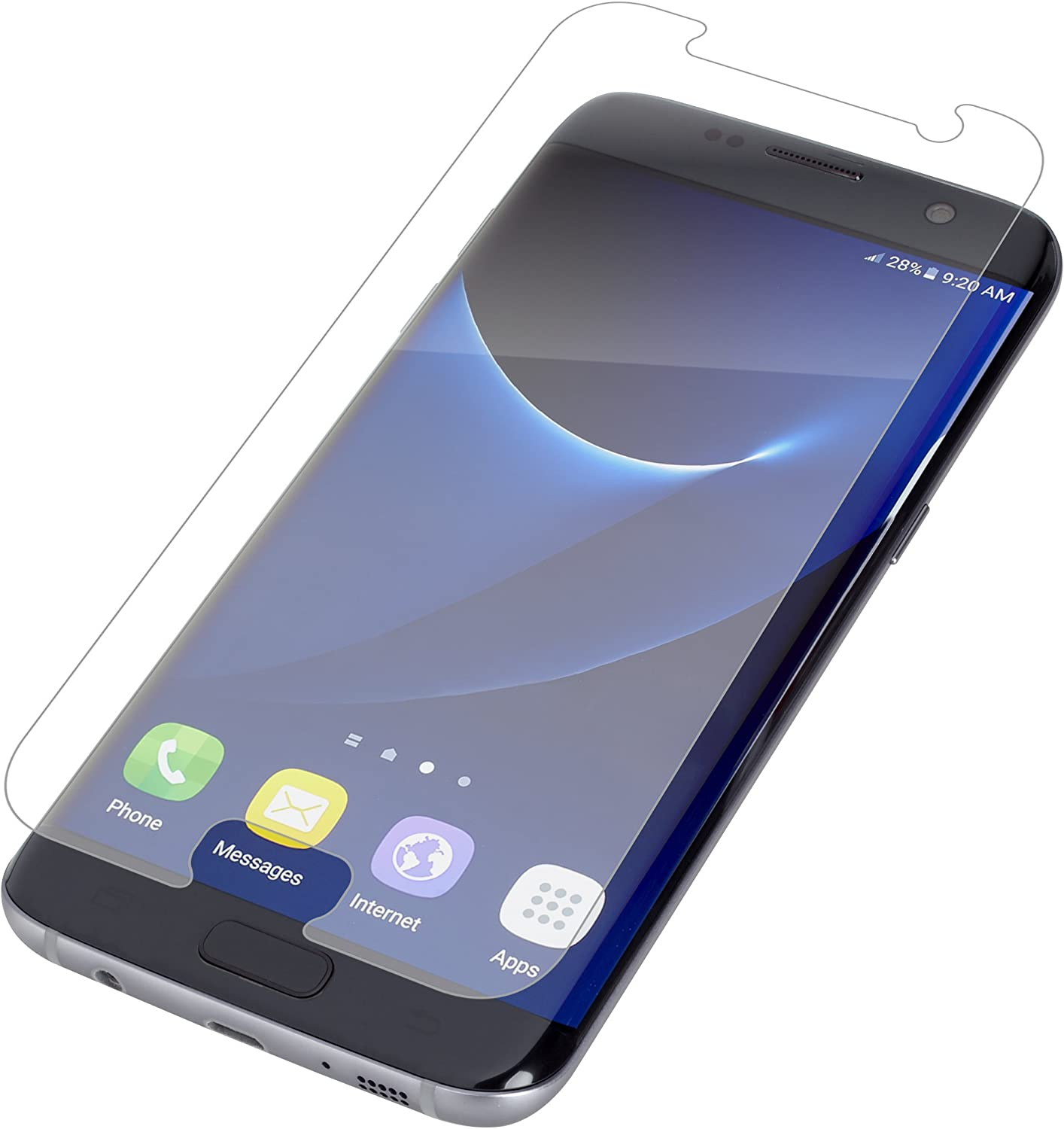 ZAGG InvisibleShield HD Film Screen Protector for Samsung Galaxy S7 Edge - Screen