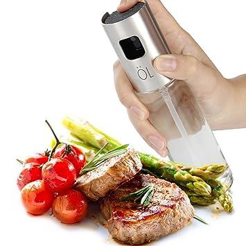 momugs cristal pulverizador de agua de aceite de oliva dispensador para barbacoa de cocina para horno adobo freidora, portátil Spray para vinagre especias ...