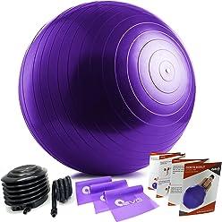Yoga Ball & 3 Resistance Bands Set