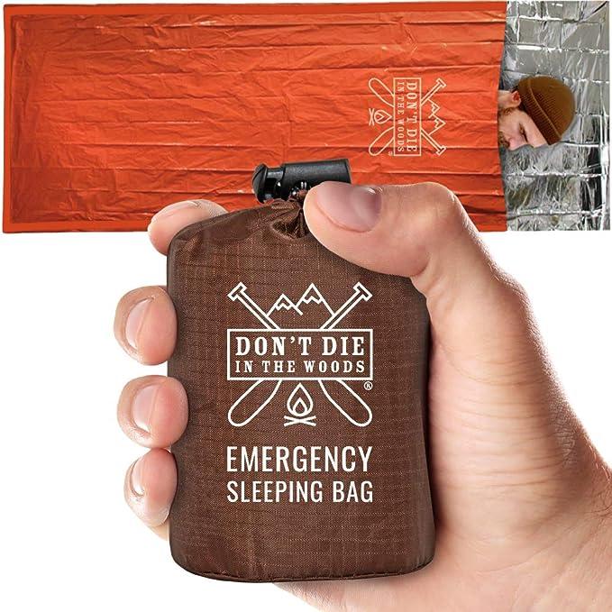 1set Emergency Sleeping Bag Emergency First Aid Sleeping Bag PE Film Tent/_wk
