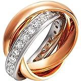 Joop Femmes bague argent Rose Or Embrace JPRG90003B