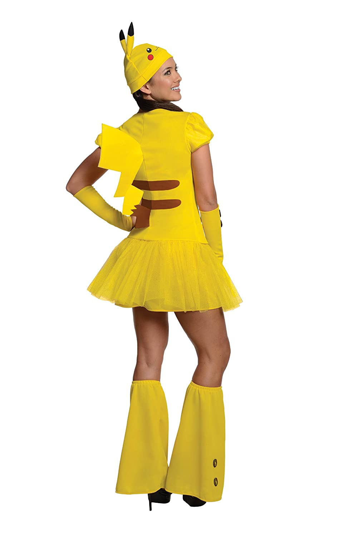 amazoncom rubies costume pokmon female pikachu costume clothing - Pikachu Halloween Costume Women