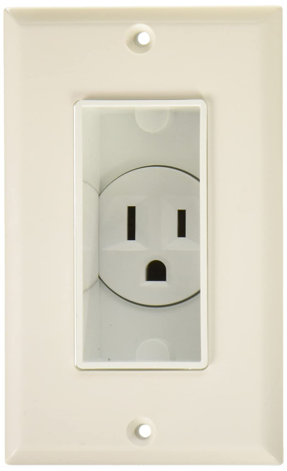 MIDLITE 4641-W Single Gang Décor Recessed Receptacle
