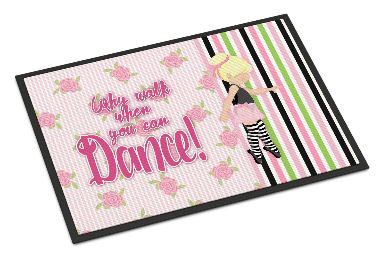 Caroline's Treasures Ballet Dance Stripes Blonde Doormat, 24 H x 36 W'', Multicolor