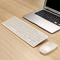 MLD-568 Combo de mini teclado USB inalámbrico ultra delgado negro USB y kit combinado blanco