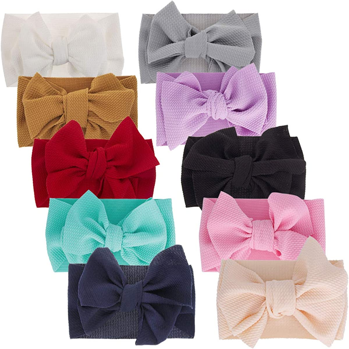 Big Hair Bow Baby Headbands Knot Headwrap bow headband Elastic Head Wraps for Newborn Infant Toddler Hair Accessories