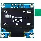 IZOKEE 0.96 Pouce I2C IIC Série 12864 128x64 Pixels OLED LCD Module Affichage SSD1306 pour Arduino Afficheur Raspberry Pi 51 Msp420 Stim32 SCR Microcontrôleur (1pc, Blanc IIC)