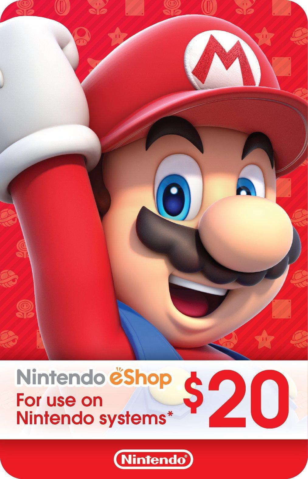 $20 Nintendo eShop Gift Card [Digital Code] by Nintendo