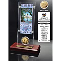 """$57 » The Highland Mint NFL Green Bay Packers Super Bowl 31 Ticket & Game Coin Collection, 12"""" x 2"""" x 5"""", Black"""