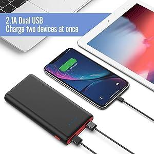 2 USB POWER BANK ESTERNA 25800mAh Portable Battery