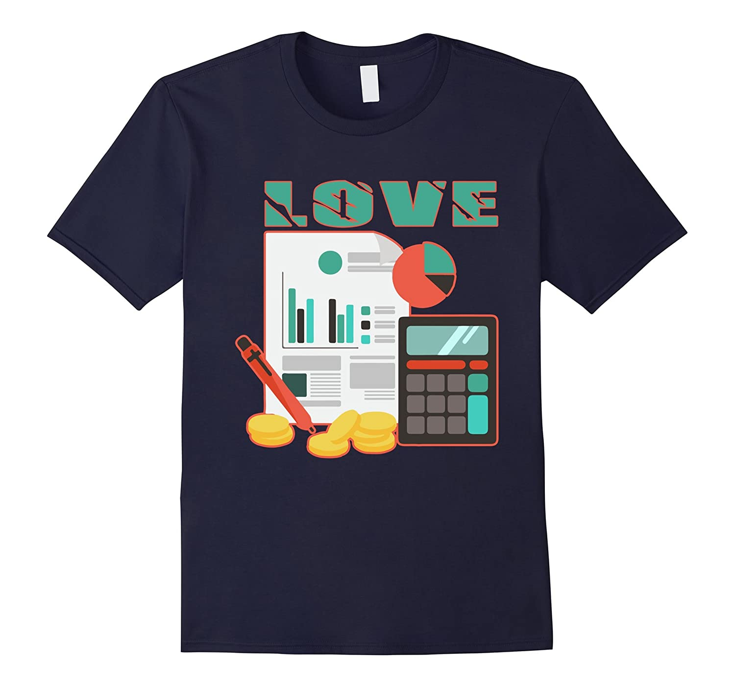 Accountant T shirt - Love Accountant Shirts-FL