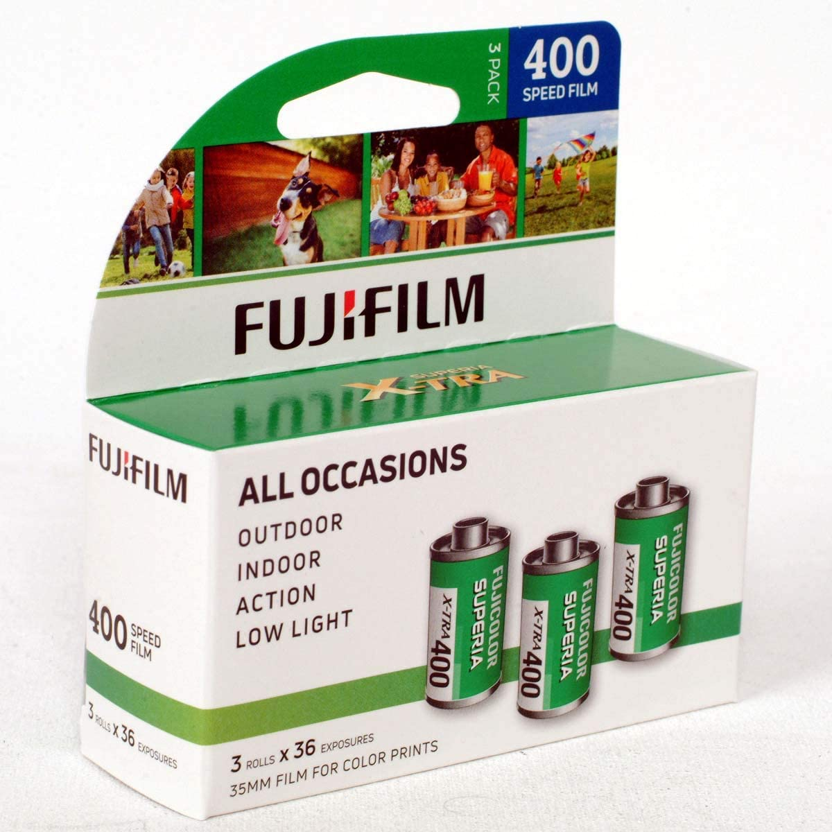 Fujifilm Fuji Superia X-TRA 400 película negativa de color 35 mm Roll, 24 exposiciones