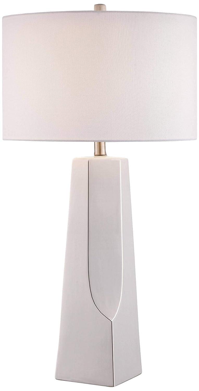 Amazon.com: lite source Tyrell blanco lámpara de mesa de ...