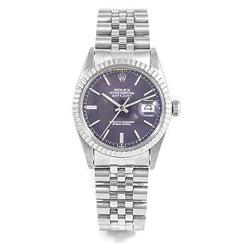 c5aede15da069 Amazon.com  Rare Rolex 16030 Mens 36mm Datejust - Blue Purple Roman ...