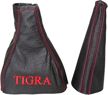 Gear Stick Gaiter TIGRA Red Embroidery