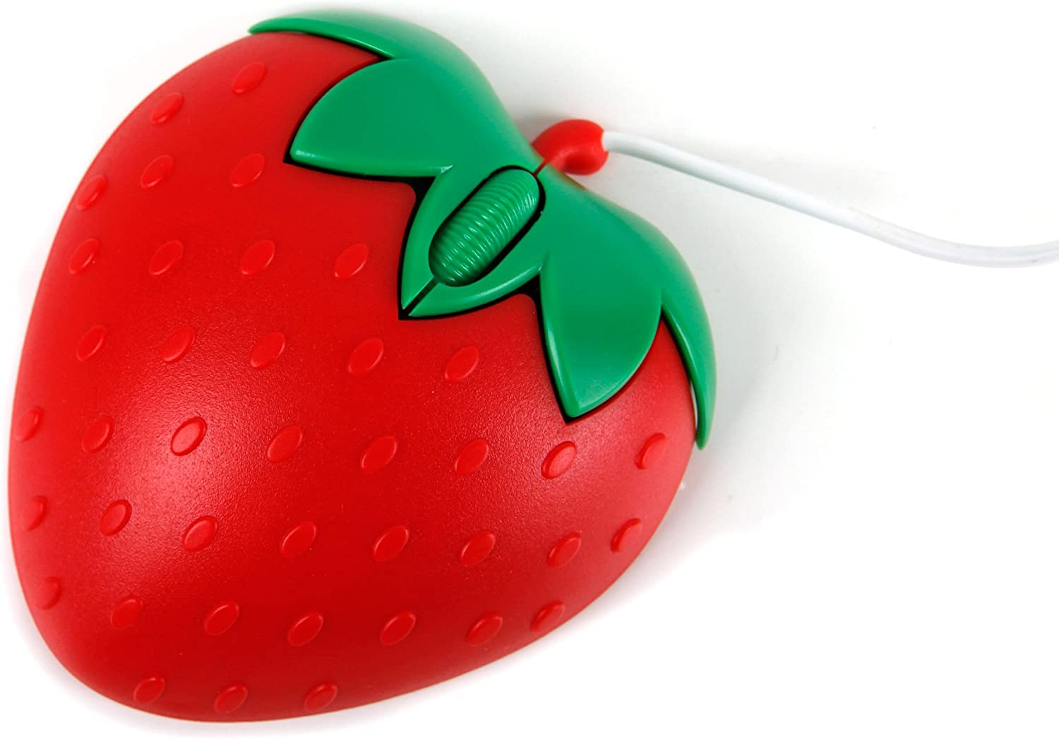 DURAGADGET Novelty Small 'Strawberry' Shaped Laptop Mouse - Compatible with The HP 15-bs530ng