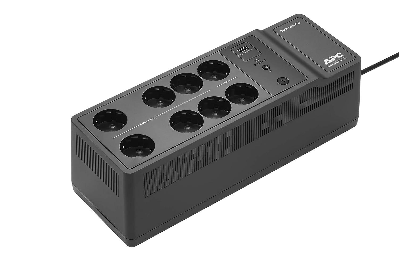 Inversor de sobretensi/ón con bater/ía de Emergencia de 650VA 8 Tomas, protecci/ón contra sobretensi/ón, 1 Puerto de Carga USB r/ápido Tipo A APC Back-UPS Essential BE650G2-FR
