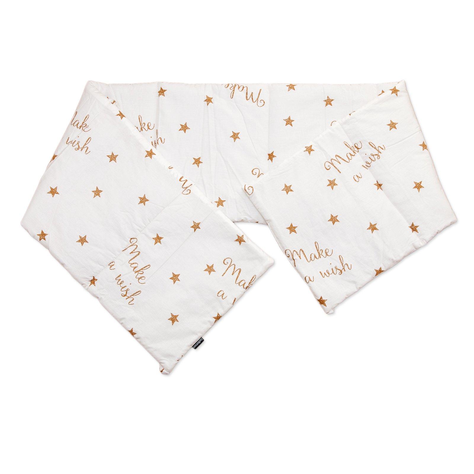 Baby Make a wish / SoulBedroom Cotton Cot Bumper Pad Half (210x40 cm)