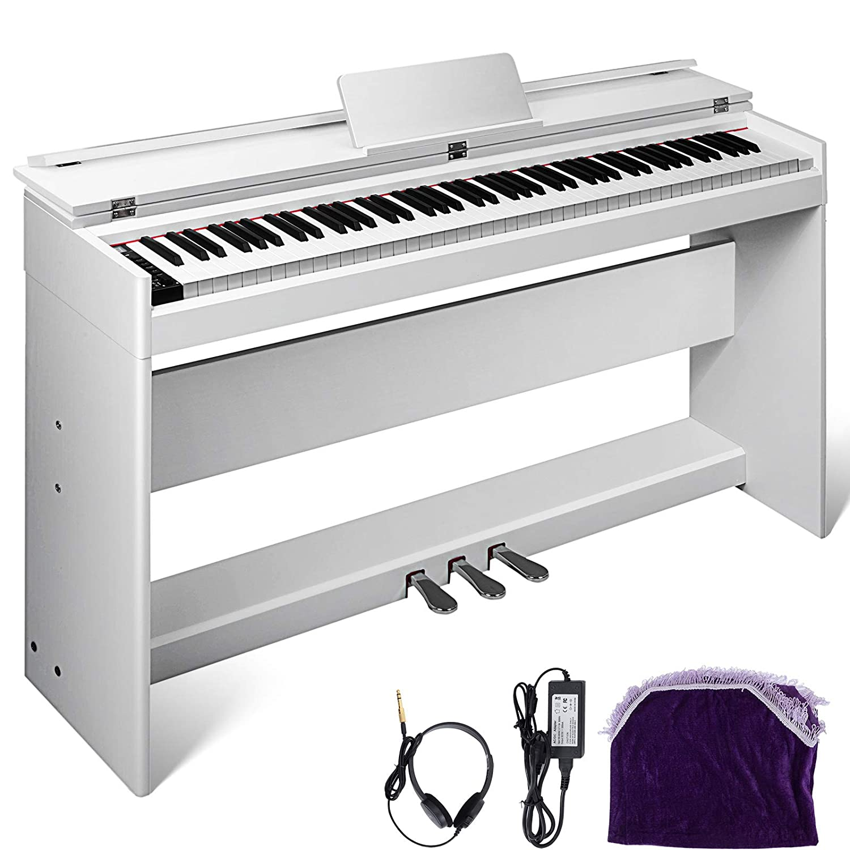 Happybuy White Digital Piano 88 Keys Electric Piano Keyboard best piano for beginners