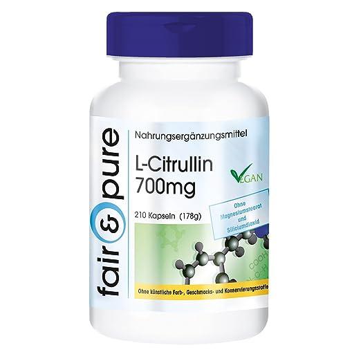 13 opinioni per L-Citrullina 700mg- 210 capsule- vegano- Sostanza pura- Supporta una pronta