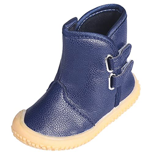T JULY Boys   Girls Anti Slip Comfortable Warm Snow Boots Cold Weather Kids Martin Boots   B076VKJF19