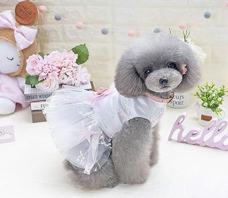 HeiPlaine Lindo Abrigo Falda para Perro Ropa para Mascotas Falda Estrella de mar (Tamaño:
