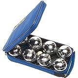 8 boules pétanques chromées avec sacoche