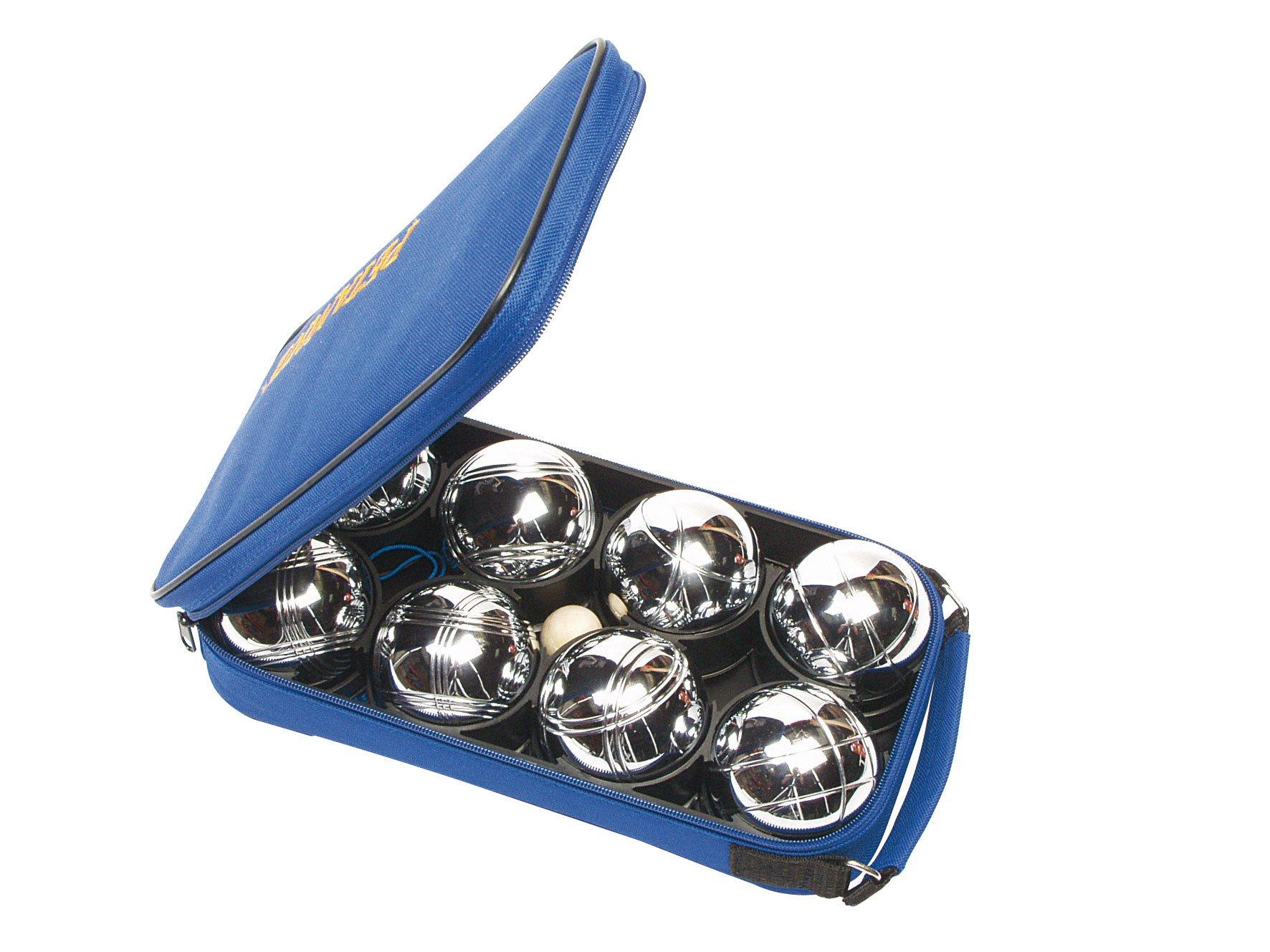 8 Boules Pétanque Chromées et Sacoche  product image