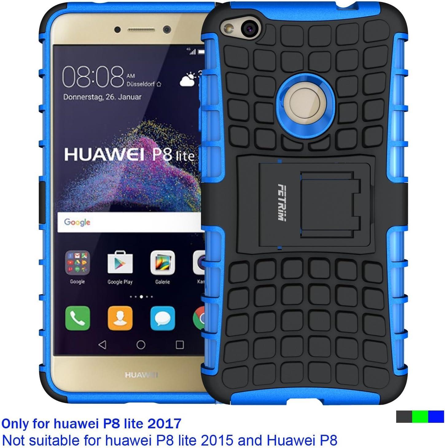 Funda Huawei P8 Lite 2017, Fetrim soporte Proteccion Cáscara Cases delgada de golpes Capa de Tough silicona TPU + plastico Anti Arañazos de Protectora para Huawei P8 Lite 2017: Amazon.es: Electrónica