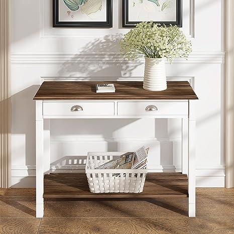 Sofatbed - Mueble auxiliar de madera con 2 cajones y estante ...