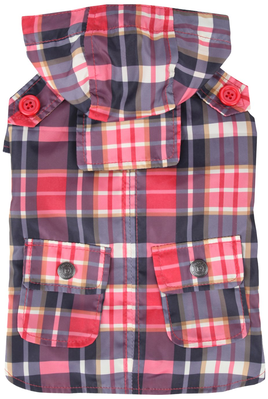 Puppia Barrington Raincoat, Small, Red