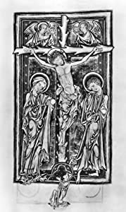 Crucifixion C1250 Nillumination From A Psalter C1250 Produced For The Benedictine Abbey Of Evesham Worcestershire England Poster Print by (18 x 24)