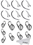 ALXCD Earbud Gel & Ear Hook for Plantronics, ALXCD 9 Pcs (Small/Medium/Large) Clear Replacement Eargel & 6 Pcs Clear Ear Hook, Fit for Plantronics M155 M165 M1100 M100 M55 M28 M25 Voyager Edge (6+9)