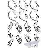 ALXCD Earbud Gel & Ear Hook for Plantronics, ALXCD 9 Pcs (Small/Medium/Large) Clear Replacement Eargel & 6 Pcs Clear Ear Hook
