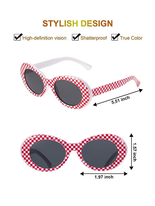 Amazon.com: Zhanmai - Gafas de sol ovaladas con lentes ...
