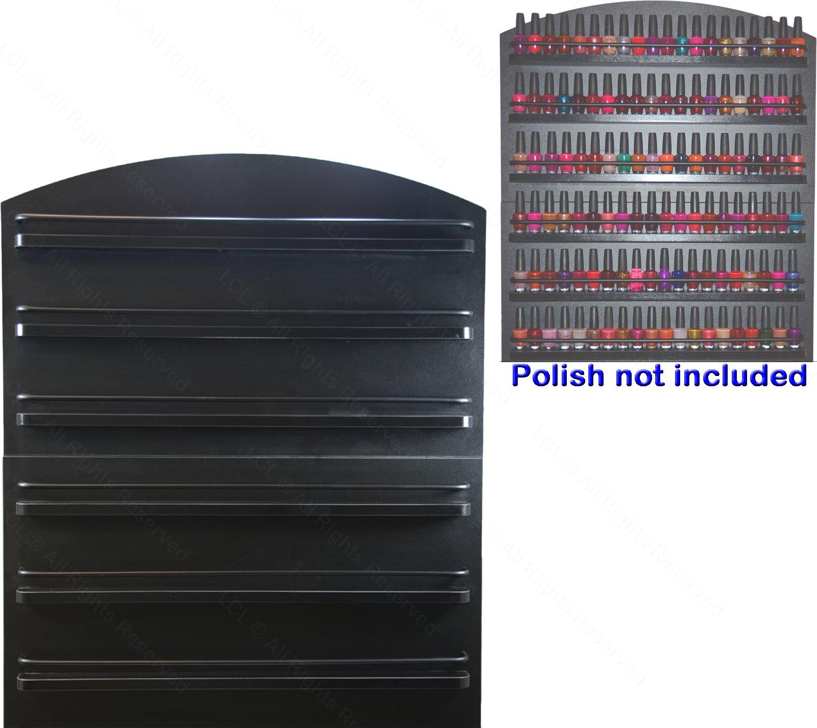 LCL Beauty 6 Tier Black Wall Mount Nail Polish Rack Display Organizer Shelf Salon Spa Beauty Equipment