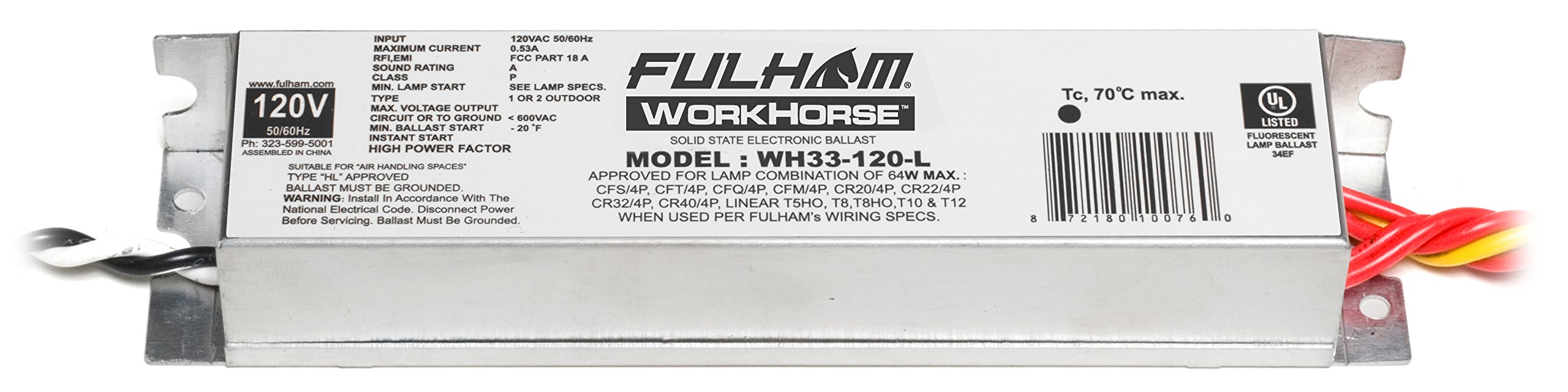 Fulham WH33-120-L Workhorse Adaptable Ballast