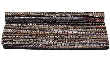 Chic Antique Lederteppich Flickenteppich Teppich Leder Matte