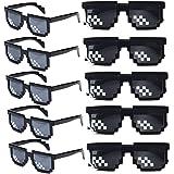 Wholesale Unisex Thug Life Party Sunglasses 8 Bits Style Pixel Mosaic MLG Photo Props Glasses