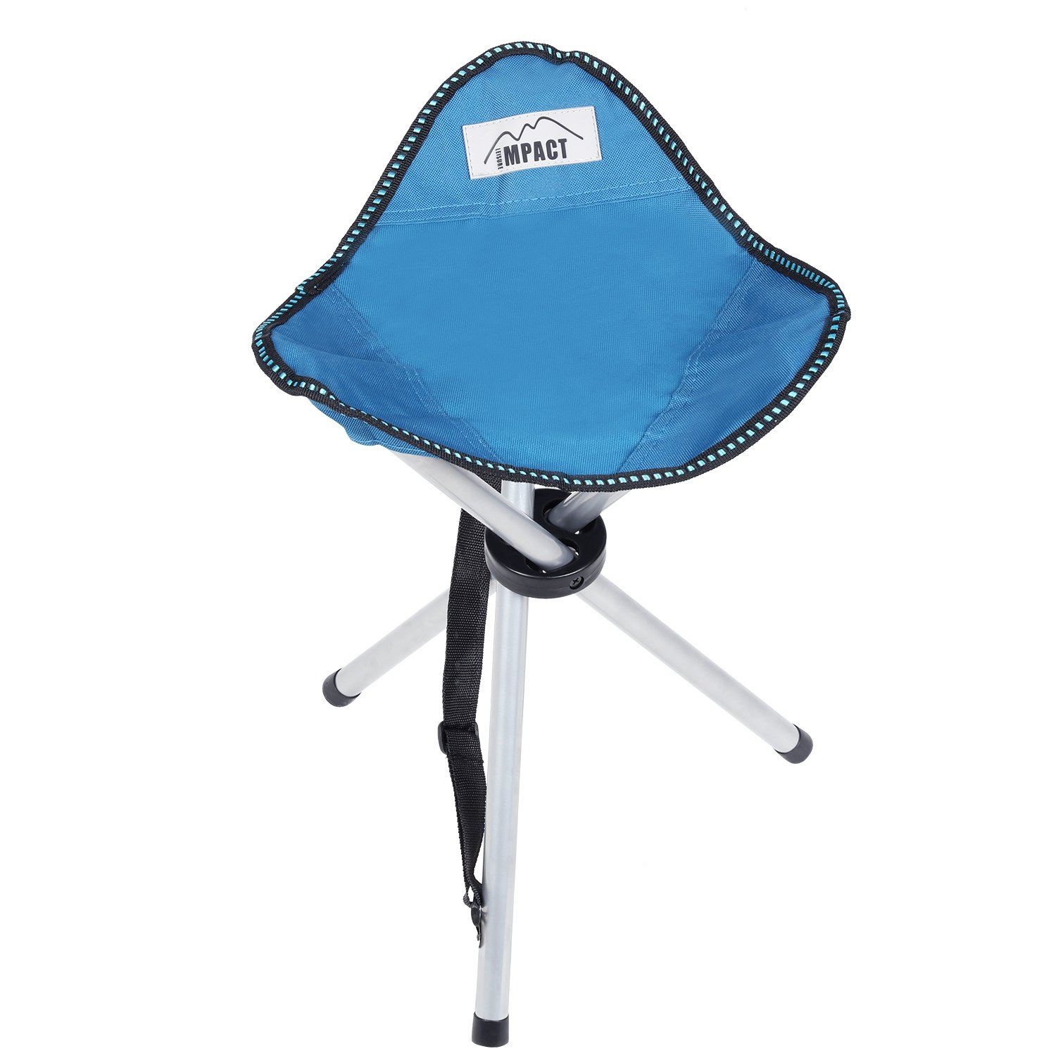 LEISURE IMPACT Lightweight Portable Tripod Stool for Camping Hiking with Shoulder Strap