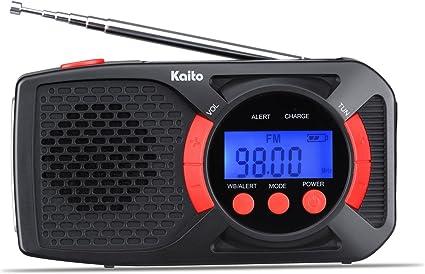 Black Kaito Solar-Powered Emergency Radio