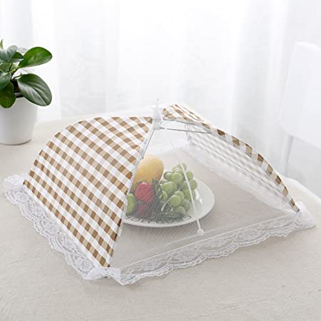 Foldable Umbrella Style Anti Fly Mosquito Table Food Covers Kitchen