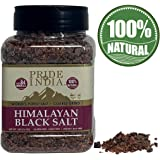 Pride Of India - Himalayan Black Salt - Coarse Grind, 1 Pound (16oz) Jar - Kala Namak - Contains 84+ Minerals - Use in…