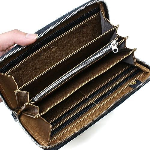 1bd236f44275 Amazon | CRM1114 クロコダイル革ラウンドファスナー長財布 L.size:マット仕上げブラック | バッグ・スーツケース