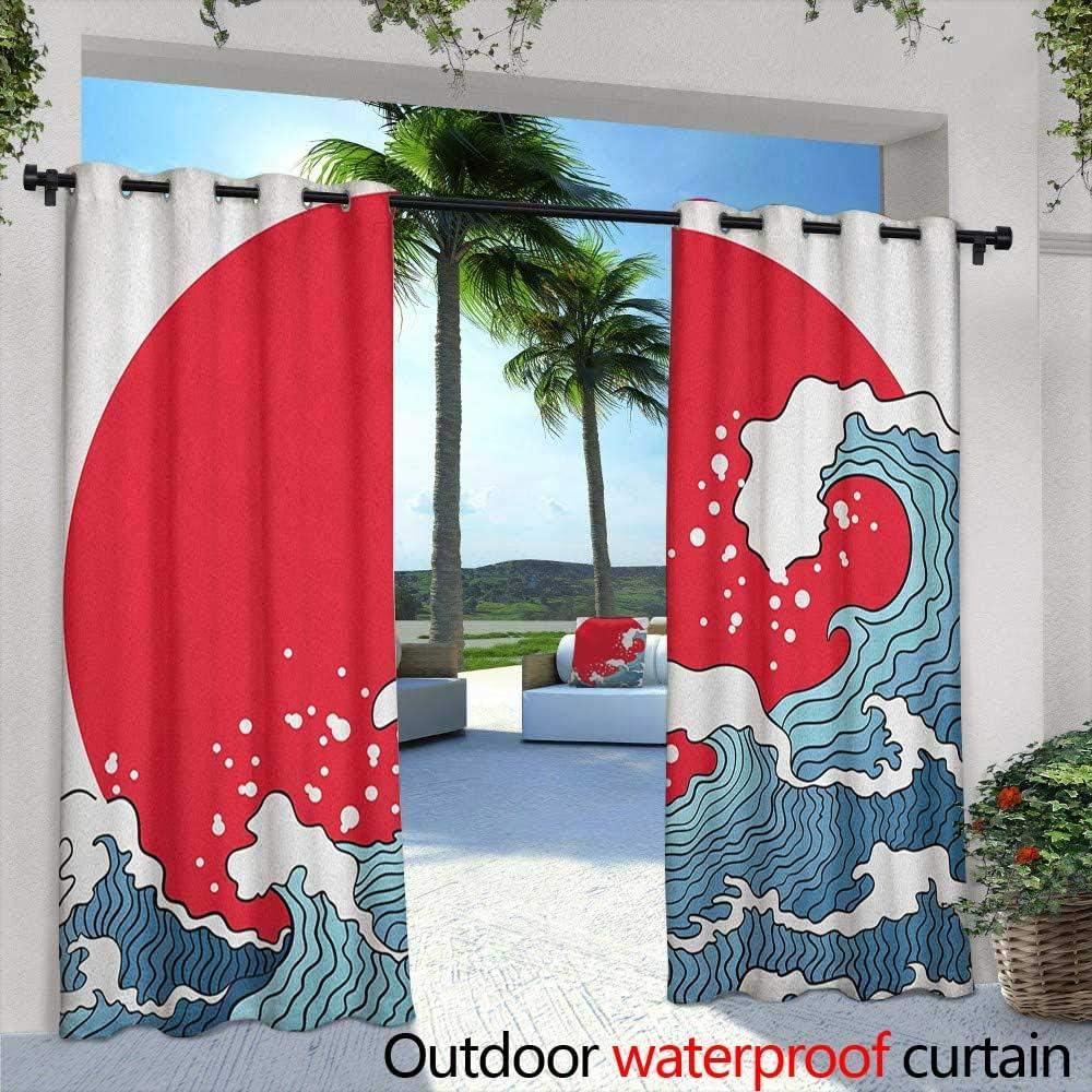 Cortina de Puerta corredera con diseño de Ondas japonesas Estilo ...