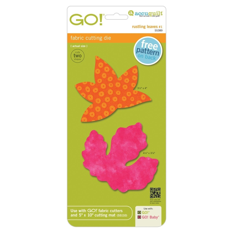AccuQuilt GO! Rustling Leaves #1- Sweetgum and Poplar (Large)