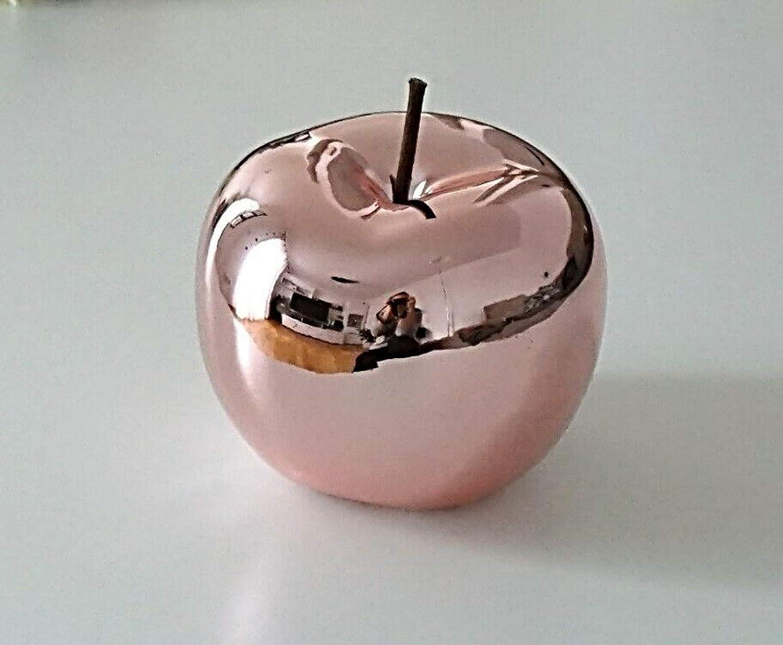 Rose Verre Art D/éco Pomme Rose Brillant 15 x 15 cm 12 x 12 cm D/éco Pomme en C/éramique Figurine C/éramique