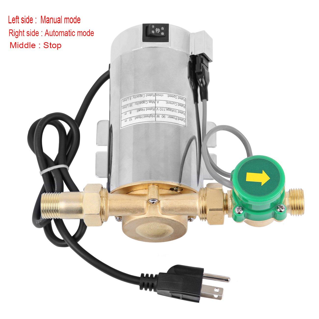 90W Electronic Automatic Water Booster Pump for Shower Washing Machine - Ridgeyard by Ridgeyard co,.ltd
