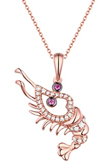 Prism Jewel 0.80MM 0.11CT G-H//I1 Natural Diamond Designer Pendant 14k Rose Gold