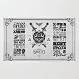 Society6 Legend Of Zelda Hylian Shield Foundry Logo Iconic Geek Line Artly Rug 2' x 3'